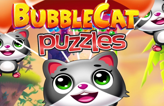 Bubble Shooter Cat Puzzle