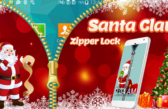 Santa Claus Zipper Lock Screen