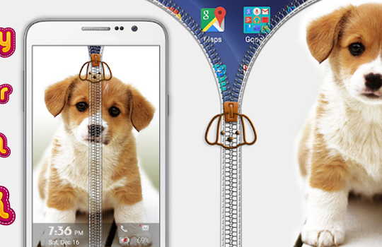 Puppy Zipper Screen Lock