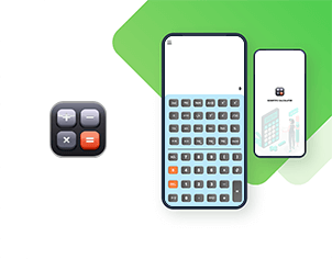 Scientific calculator top feature banner for android