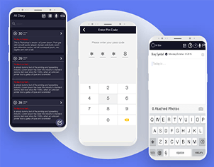 Secrete diary top feature banner for android