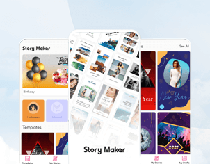 Story maker top feature banner for android