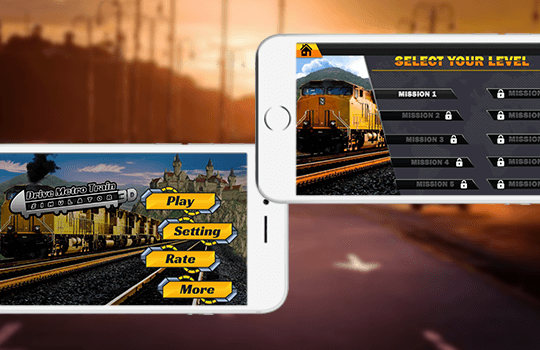 3D City Train Simulator Banner