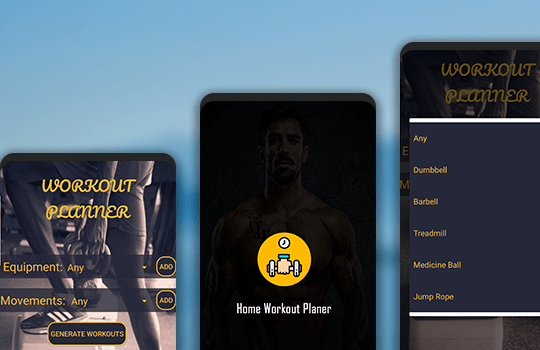 Workout Planner Banner