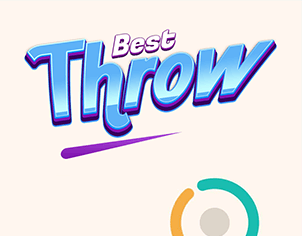 Perfect Color Ball Throw game outer feature banner